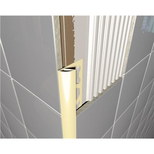PVC Round Edge Tile Trim Cream