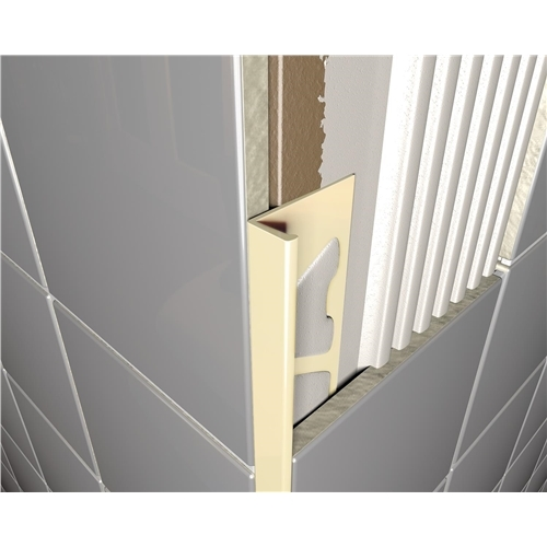 Square Edged Cream PVC Tile Trim