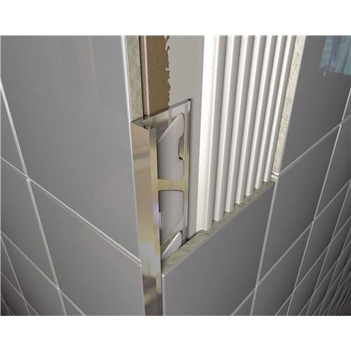 Chrome Square Edge Tile Trim