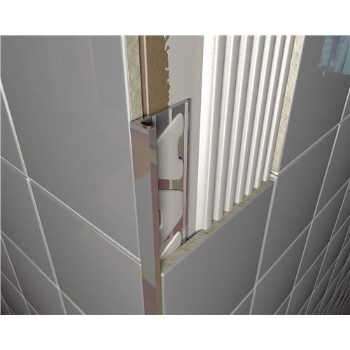Brushed Chrome Tile Trim