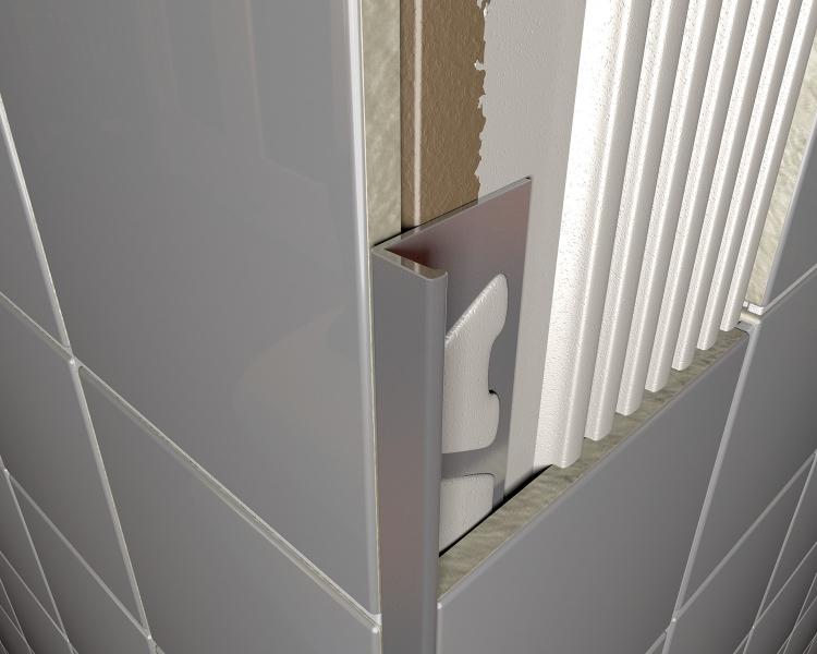 Anodised Chrome Tile Trim