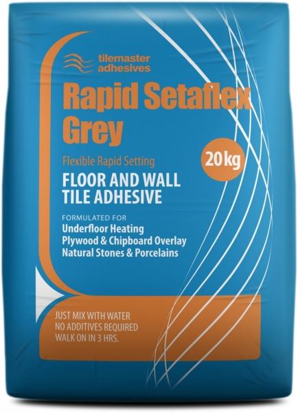 Grey Flexible Rapid Setting Tile Adhesive