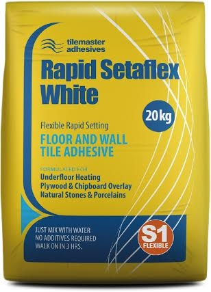 White Flexible Rapid Setting Tile Adhesive