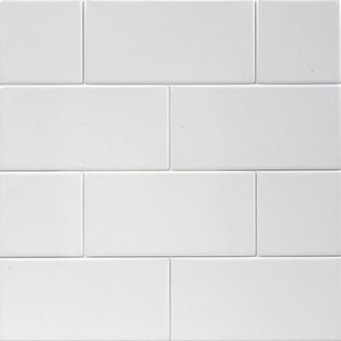 Flat Matt White Subway Tiles 10x20