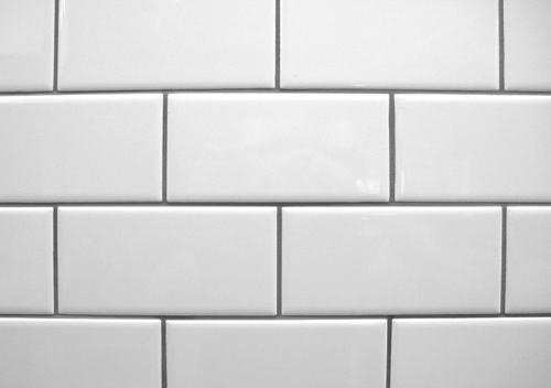 Flat White Glossy Subway Tiles ( No Bevel)