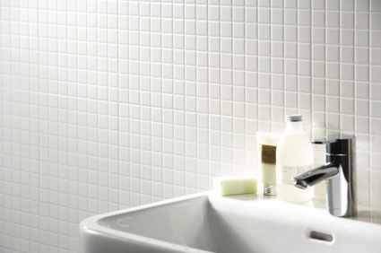 Plain White Glass Mosaic Tiles 2.5x2.5cm