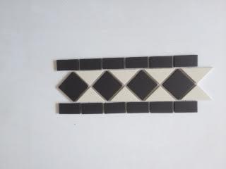 Victorian Black and White Border Tiles 10x30cm