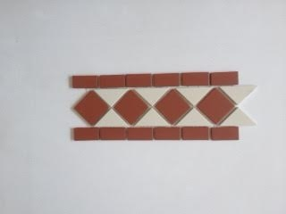 Classic Red and White Border Tiles 10x30cm