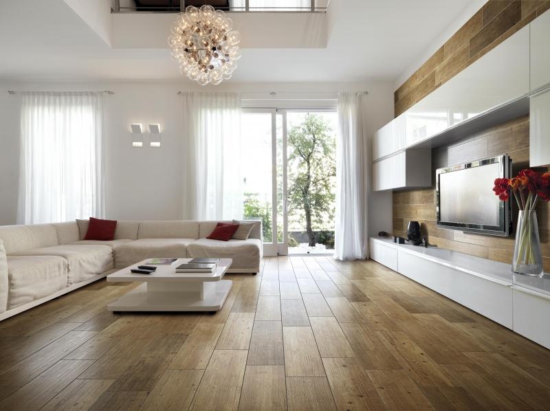 Oak Coloured Wood Effect Floor Tiles 24x95cm