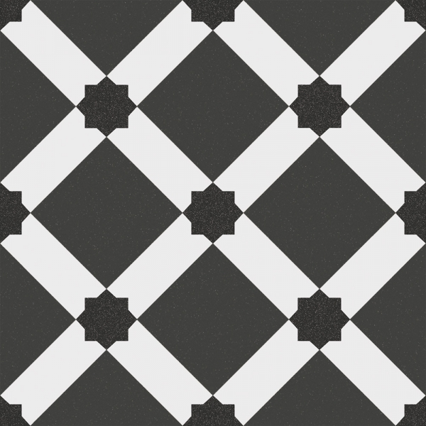 Black and White pattern Tiles