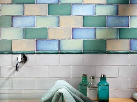 Antique blue Subway Tiles 7.5x15