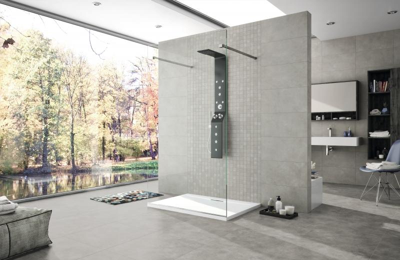 Grey Cement Effect Porcelain Tile 60x60