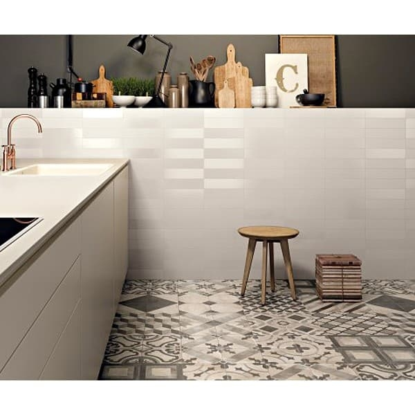 Warm Grey Patchwork Tile