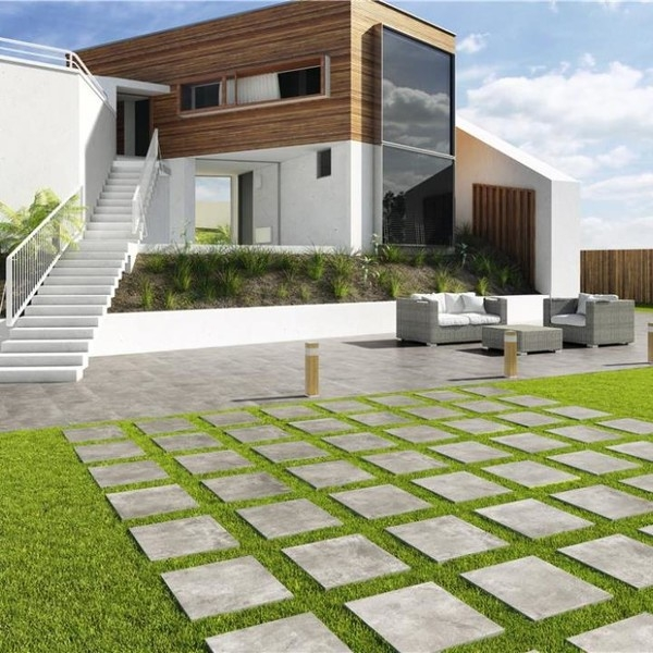 20mm Grey Porcelain Tiles for Outdoors