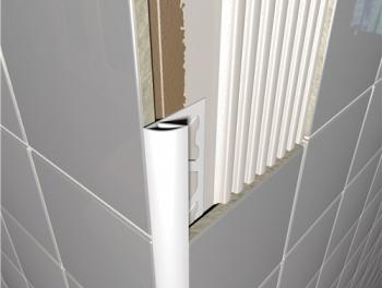 PVC Round Edge Tile Trim White