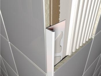 PVC Square Edge Tile Trim White
