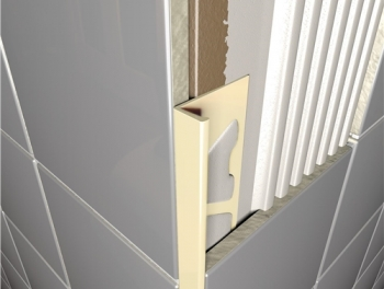 PVC Square Edge Tile Trim Cream