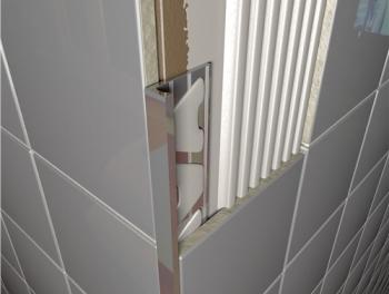 Brushed Chrome Square Edge Tile Trims