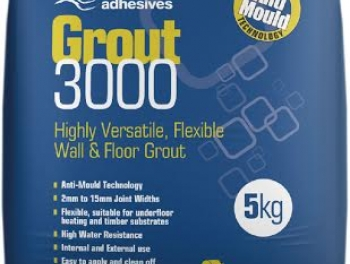 Highly Versatile White Flexible Wall and Floor Grout