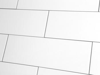 Flat Matt White Subway Tiles  10x30