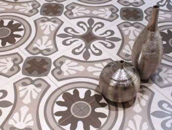 Monocolour Moroccan Pattern Encaustic Style Tiles