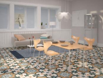 Multicolour Moroccan Pattern Encaustic Style Tiles