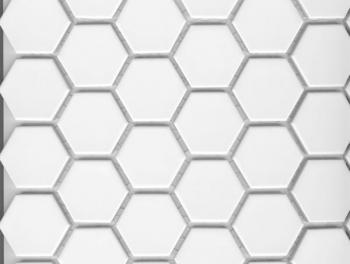 White Hexagon Mosaic 25mm