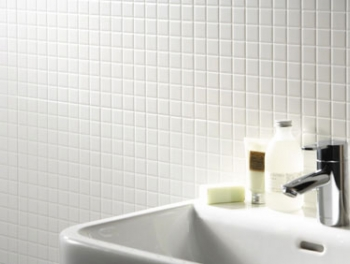 Plain White Mosaic Tiles