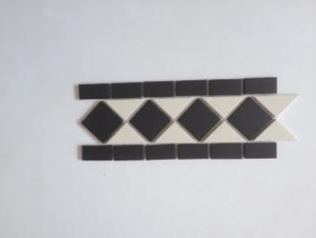 Black and White Victorian Border Tiles