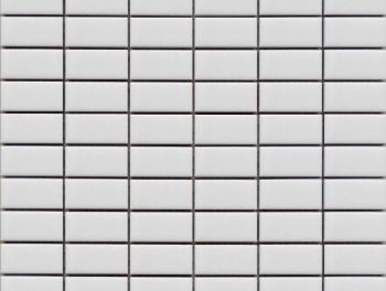 Matt White Rectangle Mosaic Tiles
