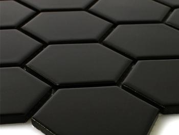 Black Hexagon Mosaic 75mm