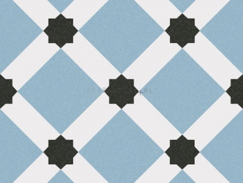 Blue and White patterned Tiles