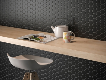 Black Hexagon Mosaic 25mm