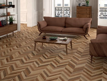 Chevron Style Wood Effect Tiles 23x120