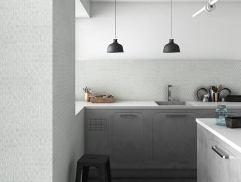 Carrara White Marble Hexagon Mosaic 25mm