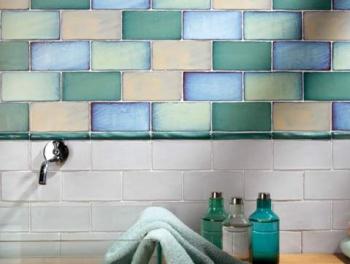Antique Colour Mix Metro Tiles 7.5x15
