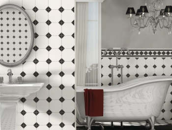 Black and White Victorian Floor and Wall Tiles